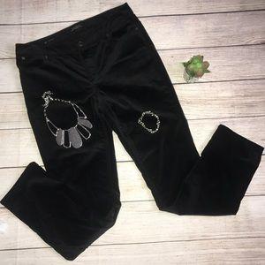 TALBOTS Black Velvet Flawless 5 Pocket Pants 👖!!!